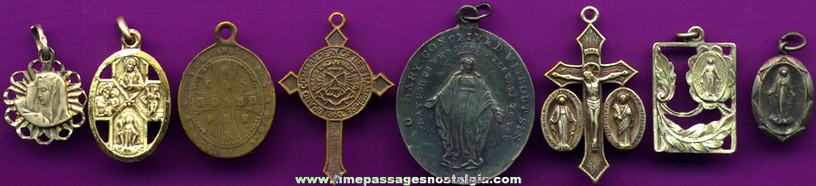 (8) Different Religious Medals / Charms