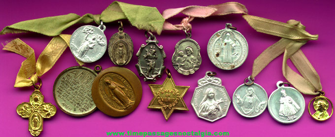 (12) Different Religious Medals / Charms