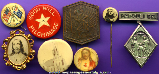 (8) Different Religious Pins
