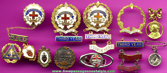 (14) Metal Religious Pins