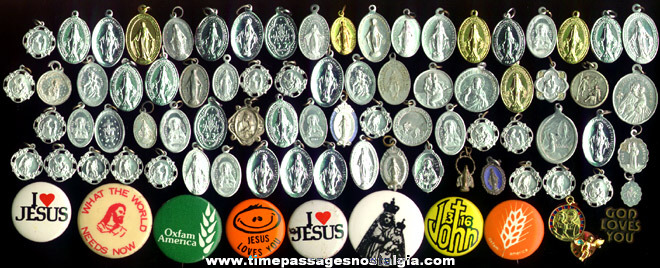 (95) Religious Medals, Charms & Pins