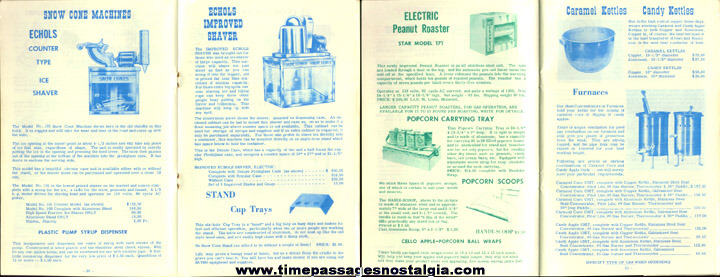 1967 - 1968 Concession Supply Company Equipment Catalog