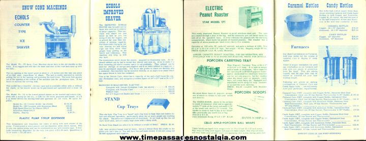 1967 - 1968 Concession Supply Company Equipment Catalog