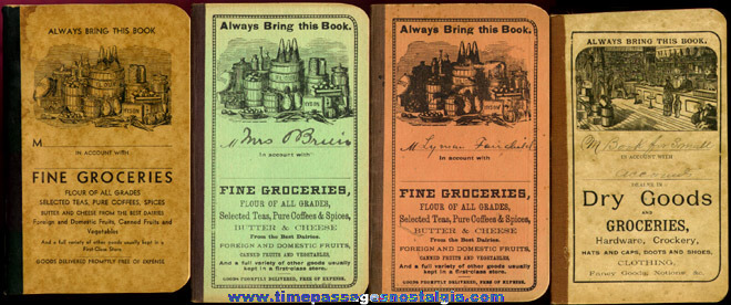 (4) Old Grocery Store Advertising Account Booklets