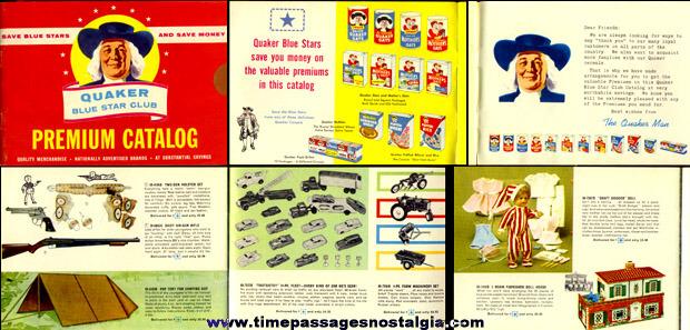 1960 Quaker Oats Cereal Advertising Premium Catalog