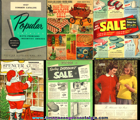 (6) Different Old Catalogs