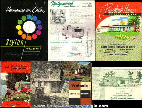 (6) Different Old Catalogs / Brochures