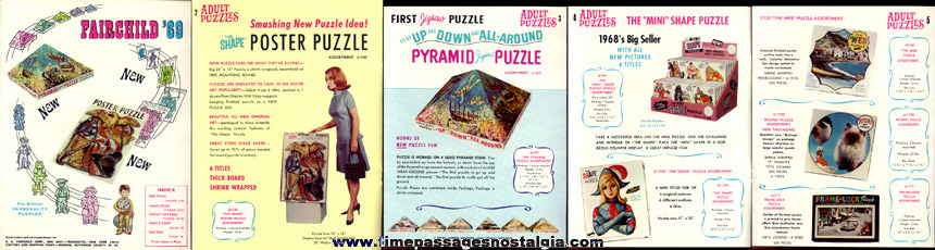 Nice Colorful 1969 Fairchild Puzzle, Game, & Card Game Catalog