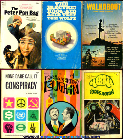 (6) Interesting 1960's - 1970's Paperback Books