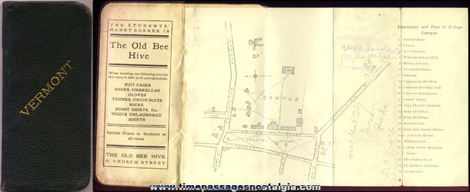 (2) Small 1900's University Of Vermont Student Handbooks