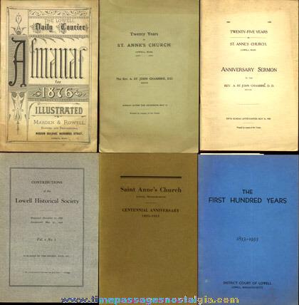 (6) Old Lowell, Massachusetts Books & Booklets