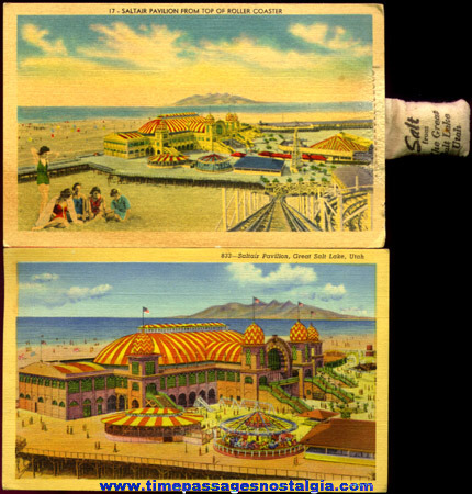 (2) Nice Old Saltair Pavilion Utah Post Cards