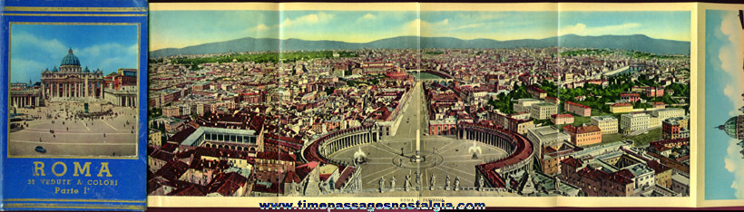 Very Colorful Old Rome, Italy Souvenir Picture Book