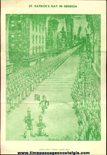 Old Racist Propaganda Flyer Sheet