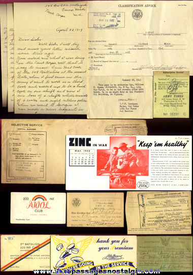 (13) Old U.S. Military Related Paper Items