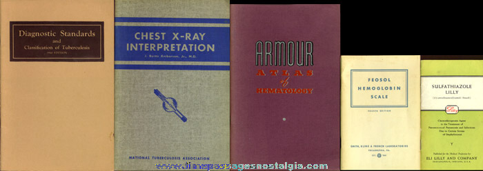(8) Different Old Medical Booklets