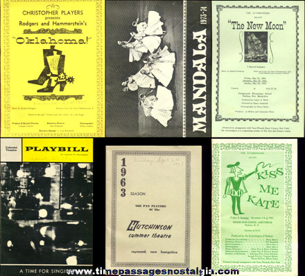 (12) Old Theatre Programs With Some Ticket Stubs