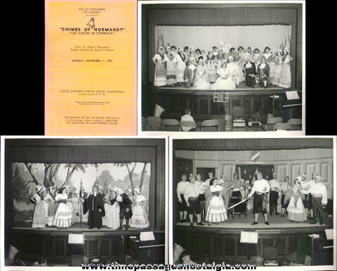 (2) Old Nashua, N.H. Theatre Programs With (7) Large Photographs