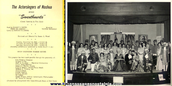 (2) Old Nashua, N.H. Theatre Programs With (3) Large Photographs