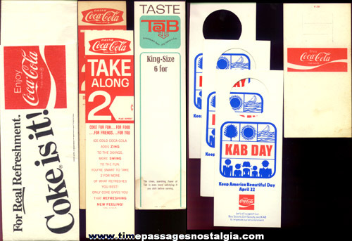 (12) Old Coca - Cola Advertising Items