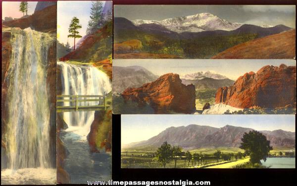 (5) Old Colored Gustaf Sandahl Photographic Prints