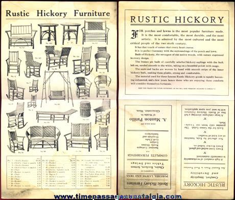 (3) Old Furniture Advertising Brochures / Flyers