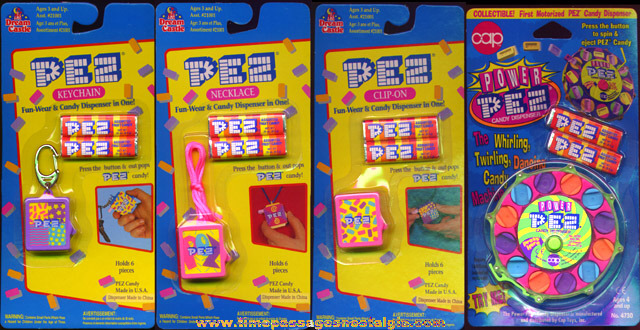 (4) Unopened 1990's PEZ Candy Dispenser Items