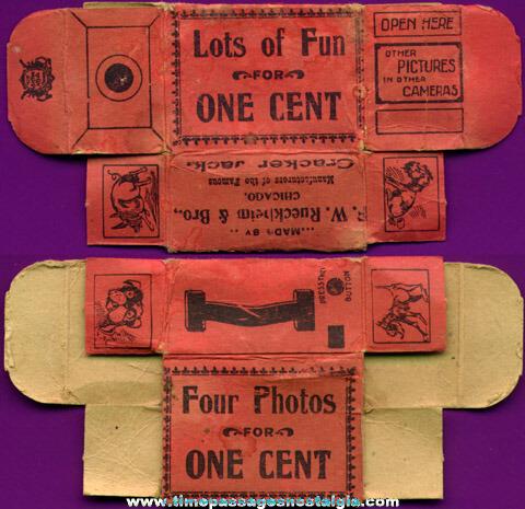 RARE 1890's Cracker Jack Penny Candy Prize / Premium Camera Box