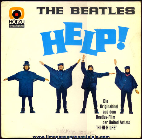 """Old Stereo German Release """"The Beatles - HELP!"""" Record Album"""