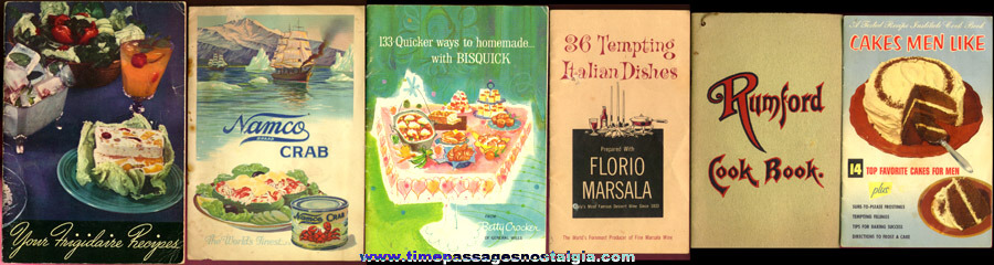 (11) Different Old Advertising Cook Books