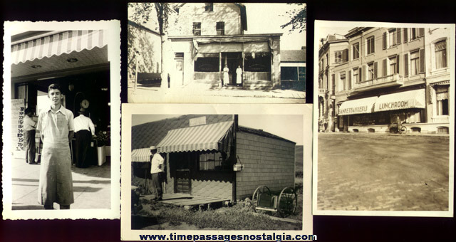 (4) Old Storefront Exterior Photographs