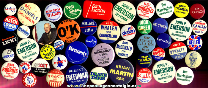 (50) Mixed Political Campaign Buttons