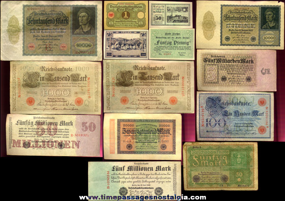 (14) Old Currency Bank Notes