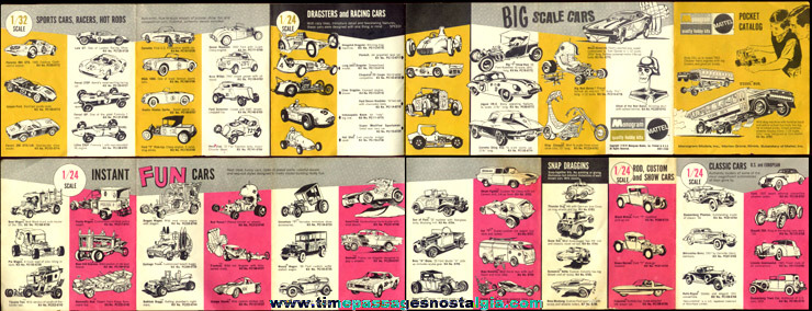 �1970 Mattel / Monogram Model Kit Pocket Catalog