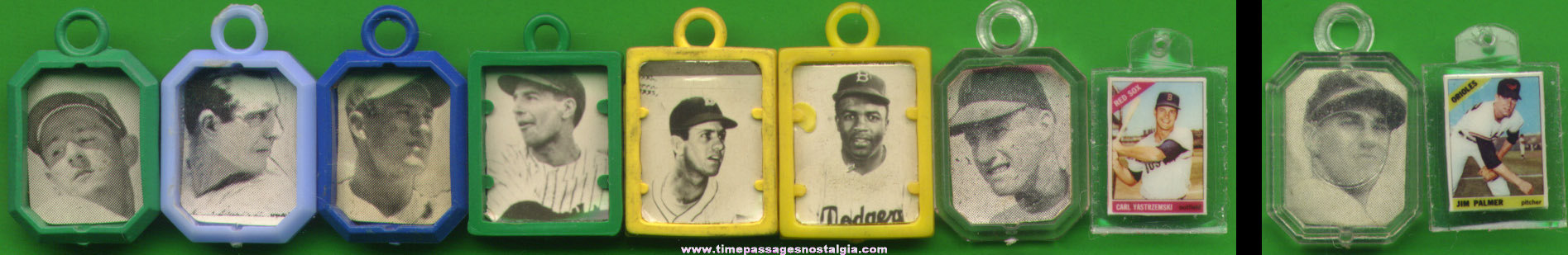 (8) Different Old Baseball Player Picture Charms