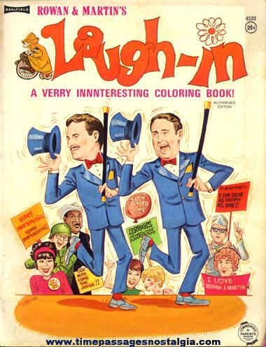 ©1968 Rowan & Martin's Laugh-In Coloring Book
