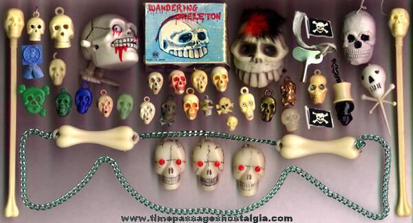 (36) Miniature & Toy Skull Items