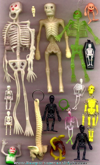 (16) Miniature & Toy Skeletons