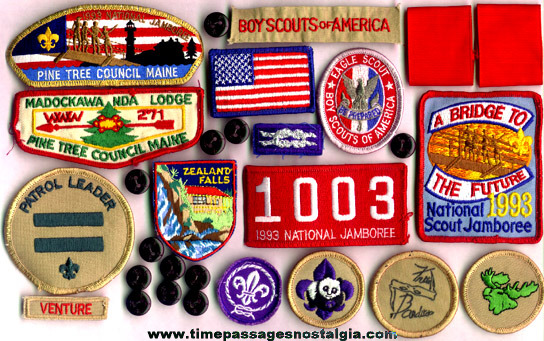 (29) Boy Scout Patches & Buttons