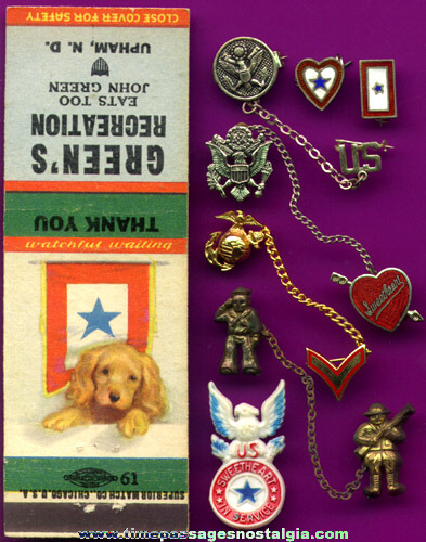 (8) Small World War II Homefront Items