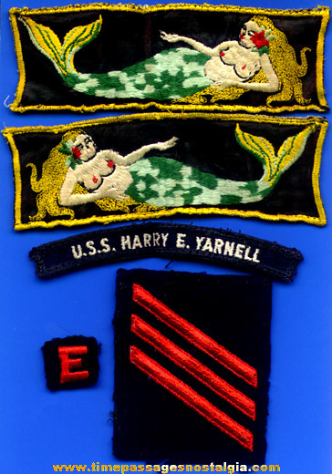 (5) Old U.S.S. Harry E. Yarnell (CG-17) Navy Patches