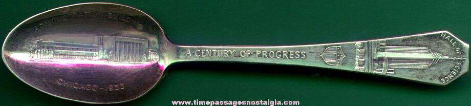 1933 Chicago Century Of Progress Souvenir Spoon