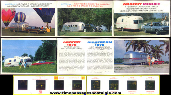 1978 Airstream Trailer Advertising Brochure & A Lot Of (80) Color Slides With Airstream Trailers