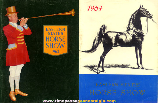 (6) 1960's Eastern States Horse Show Program Books
