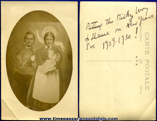 Unusual 1929 Souvenir Real Photo Postcard