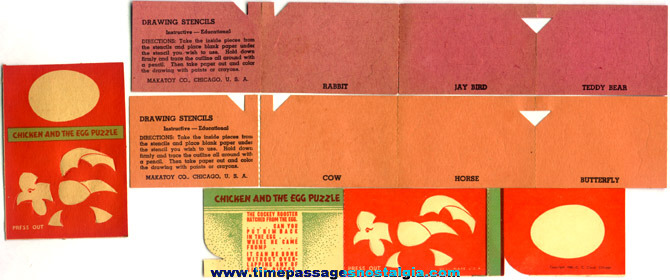 (4) Old Cracker Jack Paper Prizes