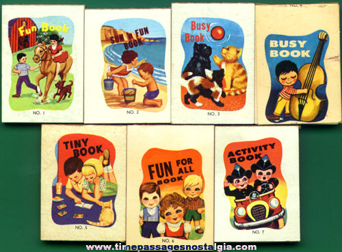 (7) Cracker Jack Prize Miniature Fun Books