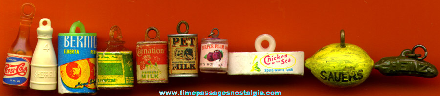 (10) Different Old Advertising Charms
