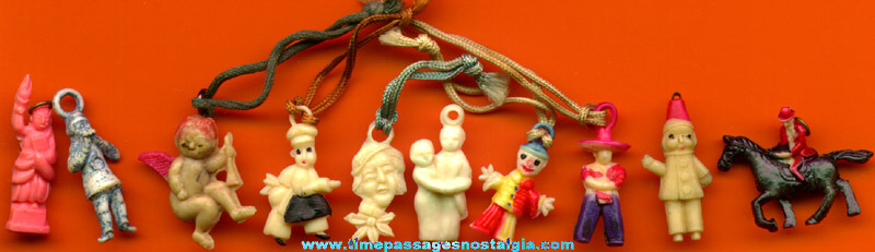 (10) Old Celluloid Charms