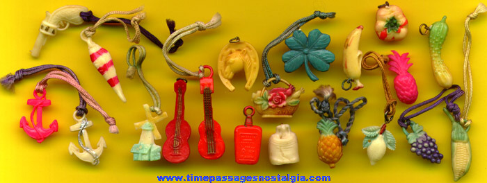 (20) Old Celluloid Charms